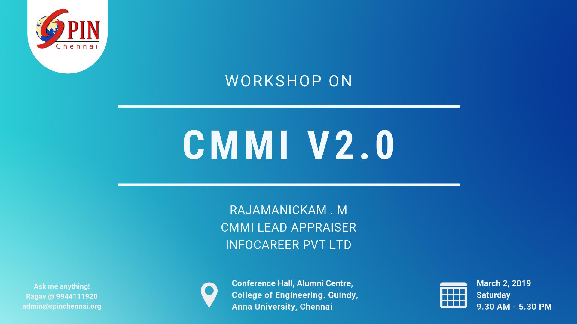 CMMI V2.0 Workshop